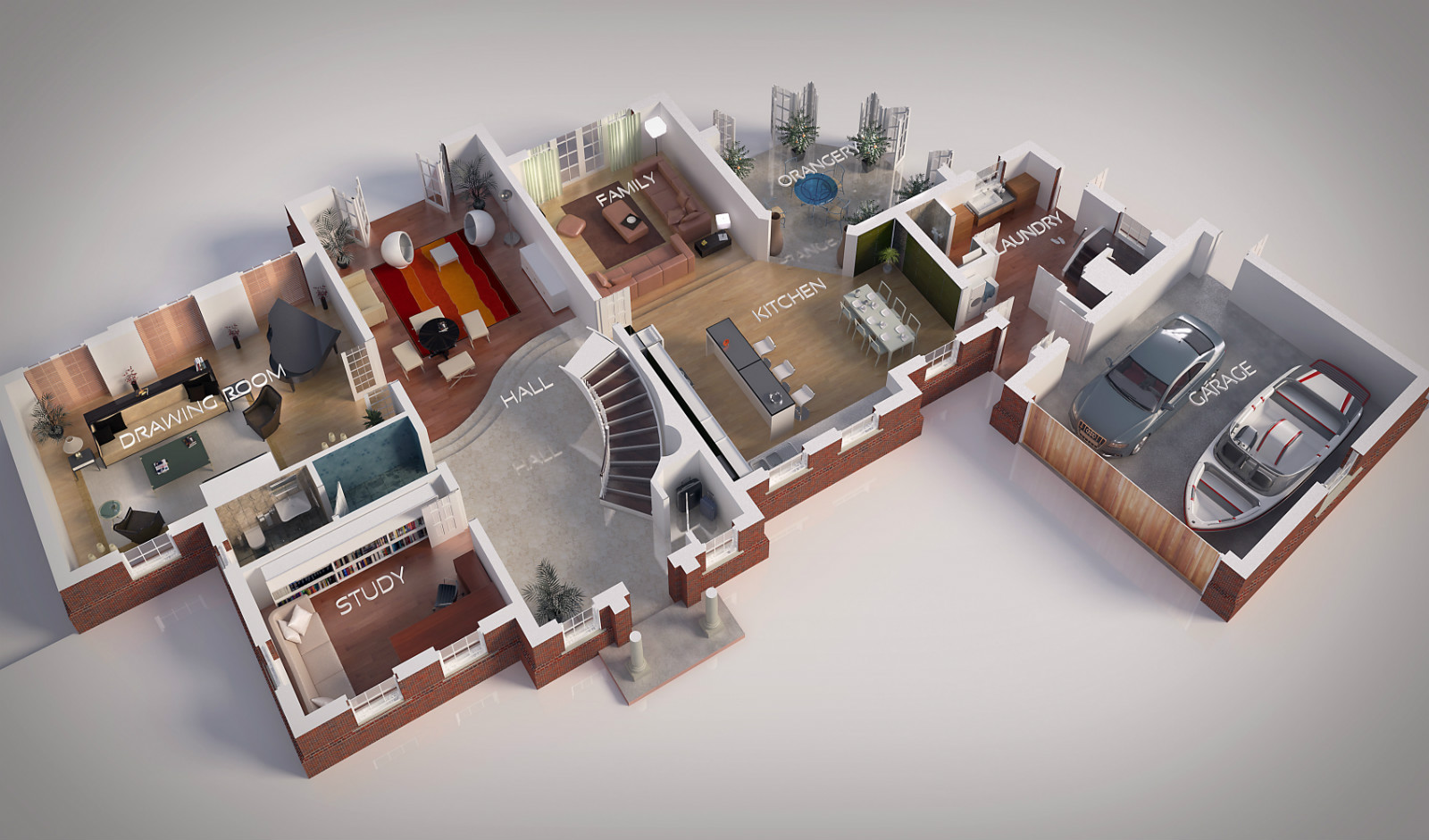 St Mary's Ascot 3D floorplan