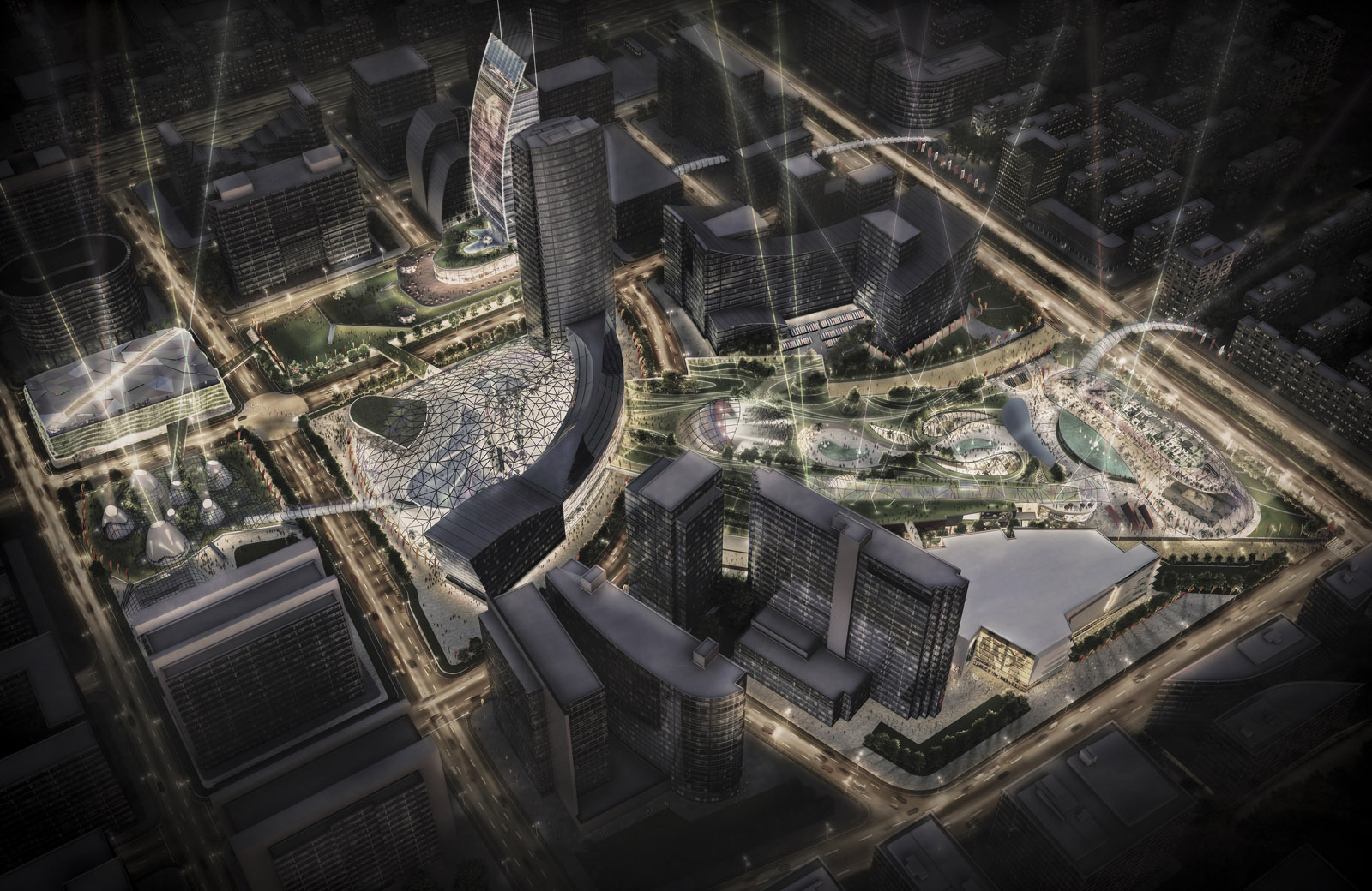 Beijing Times Square redevelopment design proposal by Wei Yang Associates