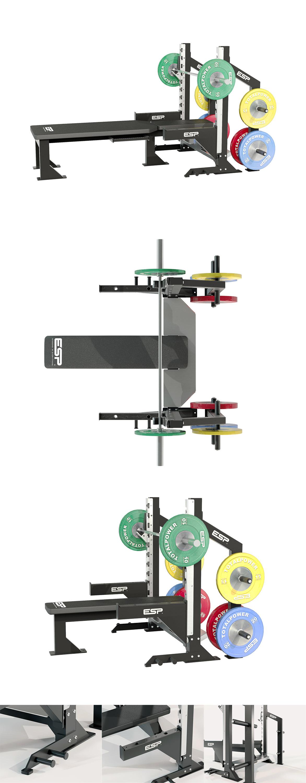 3D renders of gym equipment