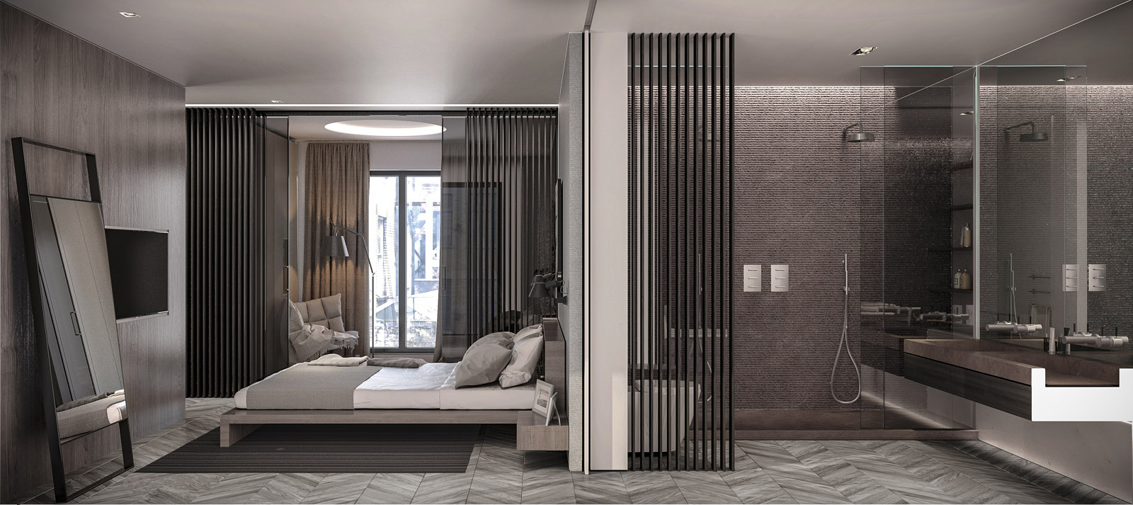 apartment - master bedroom with ensuite