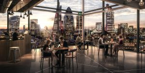 London City skyline - restuarant / cafe