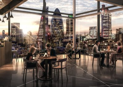 London Commercial Cafe/Restaurant with skyline view