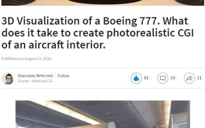 How to creat a photo-realistic visualisation of an aircraft interior