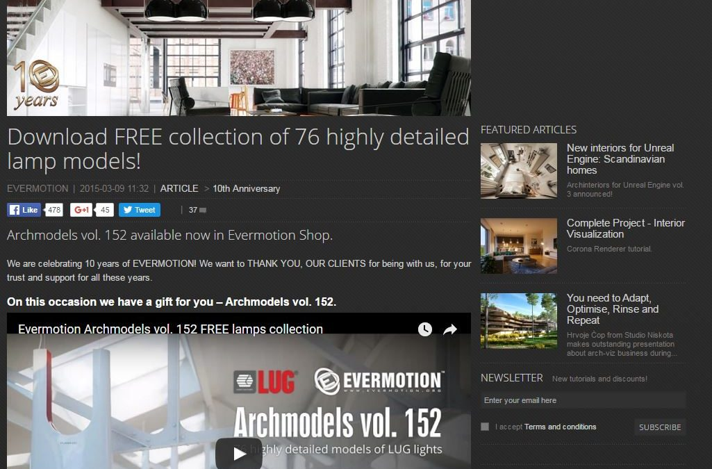 more free stuff – Evermotion lighting – get it quick!