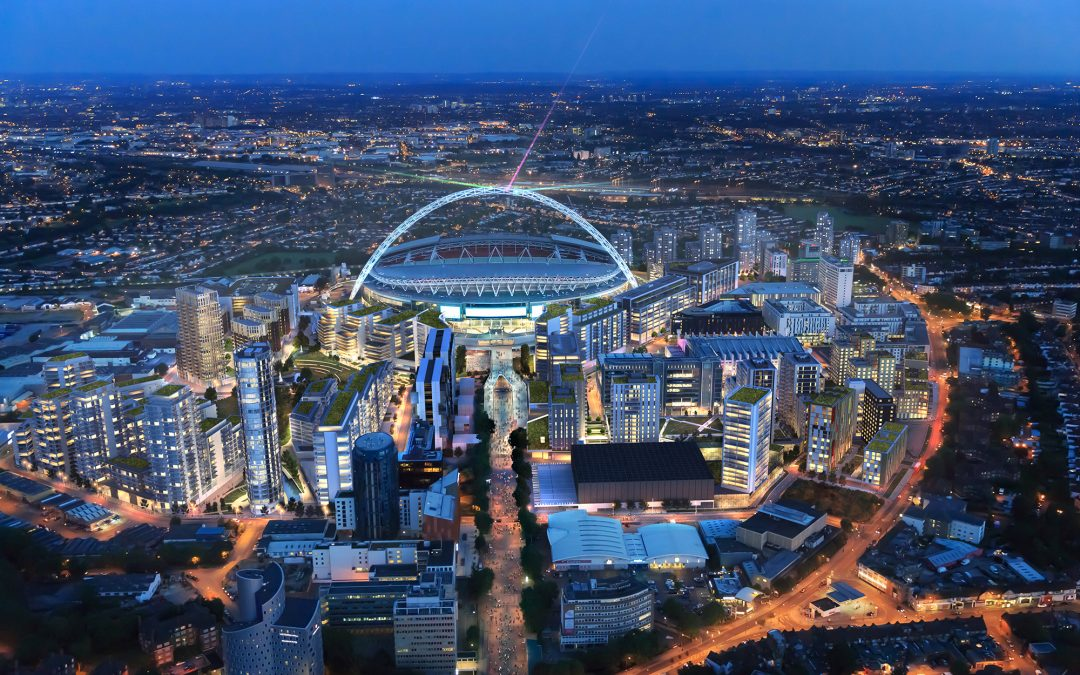 Aerial CGI's of Wembley Masterplan