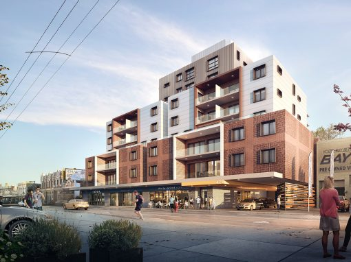 Apartments – street view CGI