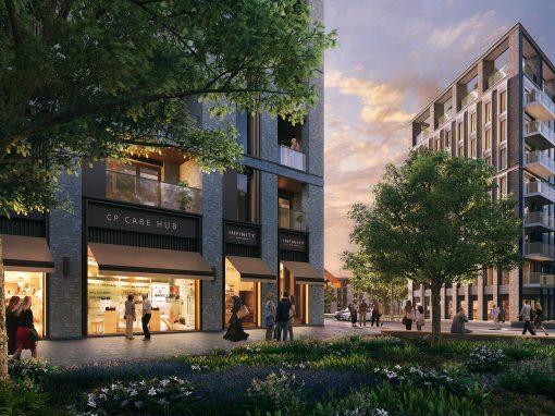 Dusk Visualisation of a London Development